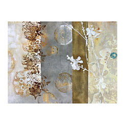 Patterned Neutral Canvas Art Print