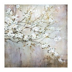 White Elegance Canvas Art Print