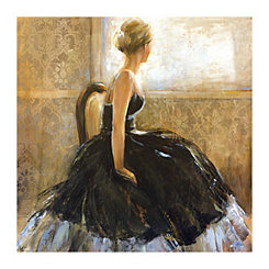 Girl In Dress Canvas Art Print