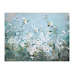 Spring Gardens Blue Canvas Art Print