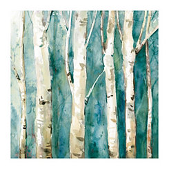 Dogwood Blue Canvas Art Print