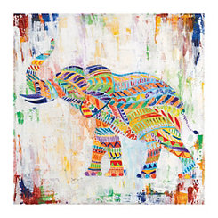 Magical Elephant Canvas Art Print