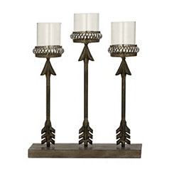Bronze Arrows Candelabra