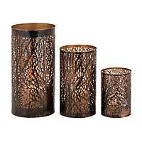 Bronze Metal Branches Hurricanes, Set of 3