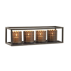 Black Cube 4-Votive Candle Runner