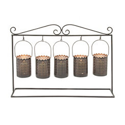 Hanging Iron Candle Runner, 24 in.
