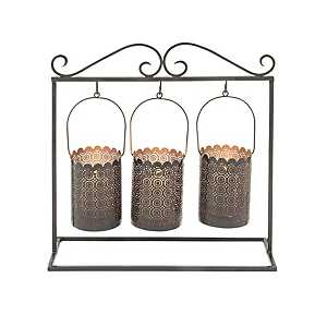 Hanging Iron Candle Runner, 15 in.