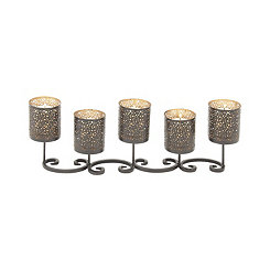 Metal Scroll Candle Runner