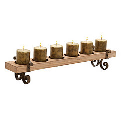 Natural Brown Scrolled Candle Runner