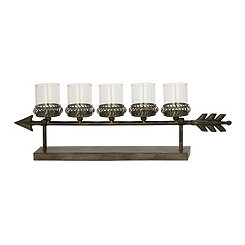 Bronze Arrow Candle Runner