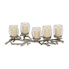 Silver Stick Candle Runner