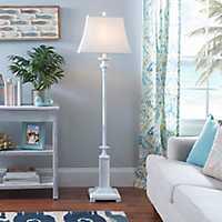 White Shutter Floor Lamp
