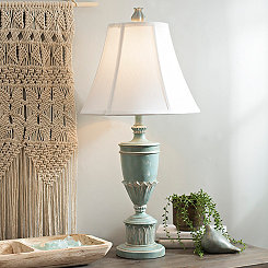 Cibali Blue Flare Shade Table Lamp