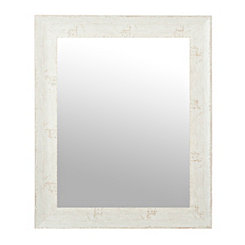 Rustic Whitewash Burlwood Wall Mirror