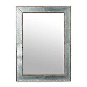 Industrial Galvanized Wall Mirror
