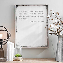 The Most Important Work Wood Wall Plaque