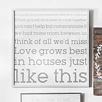 Love Grows Best Wooden Wall Plaque