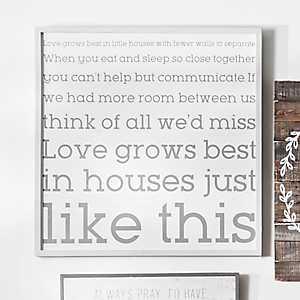 Love Grows Best Wooden Wall Plaque