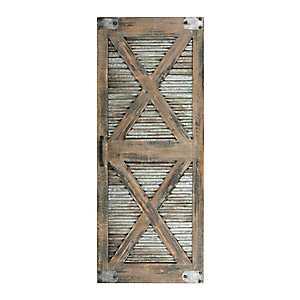 Double X Frame Barn Door Wall Plaque