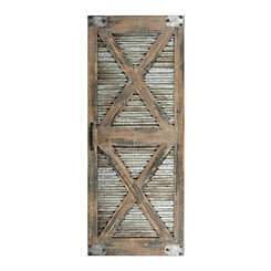 Double X Frame Barn Door Wall Plaque