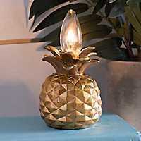 Gold Pineapple Night Light