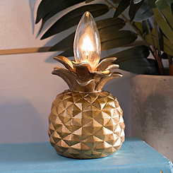 Gold Pineapple Night Light