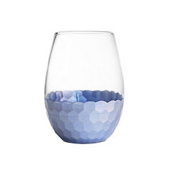 Daphne Blue Stemless Wine Glasses, Set of 4