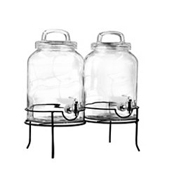 Savannah Double Beverage Dispensers, Set of 2