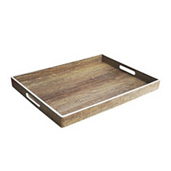 Poplar White Rim Decorative Tray