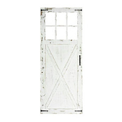 Weathered White Stable Door Wall Plaque