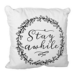Stay Awhile Outdoor Pillow