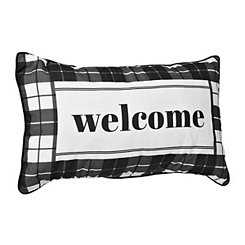 Welcome Outdoor Accent Pillow
