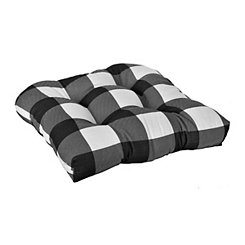 White Buffalo Check Outdoor Cushions, Set of 2