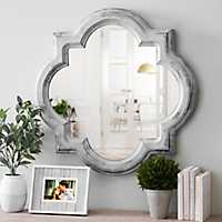 Vintage Blue Cloche Wall Mirror