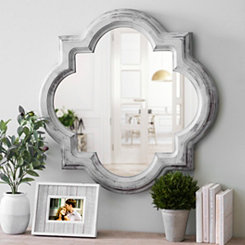 Vintage Gray Cloche Wall Mirror