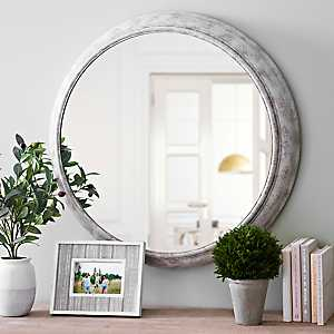 Katelyn Distressed White Wall Mirror