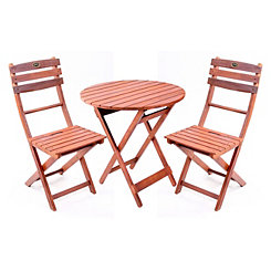 Natural Wooden Bistro Set