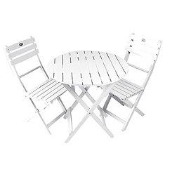 White Wooden Bistro Set