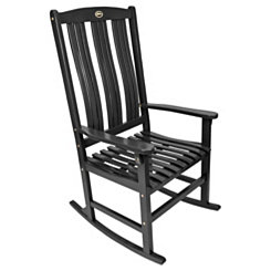 Black Wooden Rocker