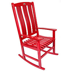 Red Wooden Rocker