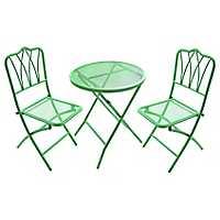Green Wrought Iron Bistro Set
