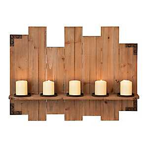 Wood Plank Wall Candle Holder