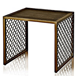Braided Wrought Iron Accent Table