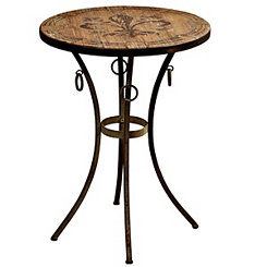 Round Fleur-de-lis Accent Table