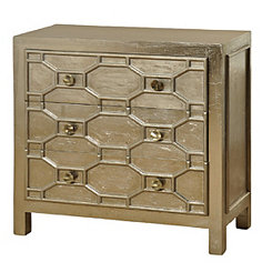 Metallic Champagne 3-Drawer Chest