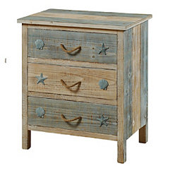 Coastal 3-Drawer Night Stand