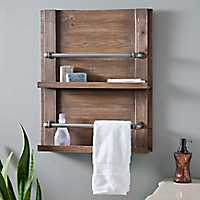 Barnwood Towel Rack