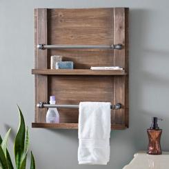 Barnwood Towel Rack