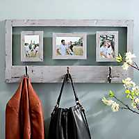 Weathered Gray Wall Hook Collage Frame
