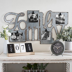 Family Galvanized Metal Clip Collage Frame